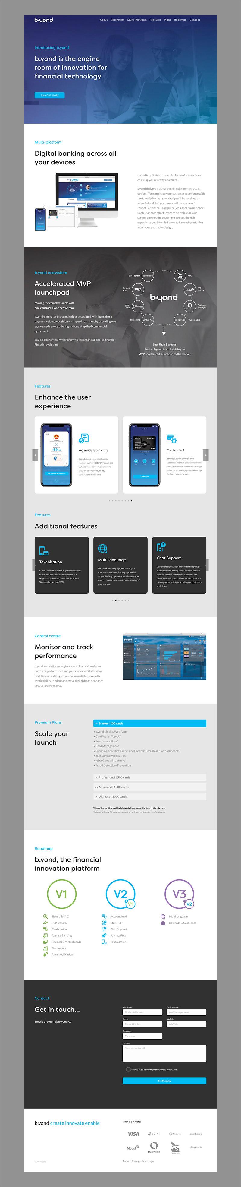 b.yond website design startup