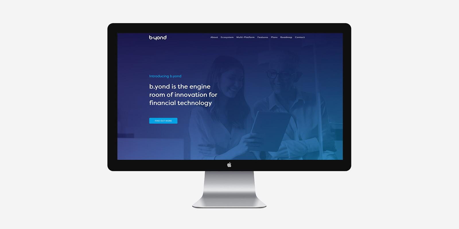 b-yond website desktop display