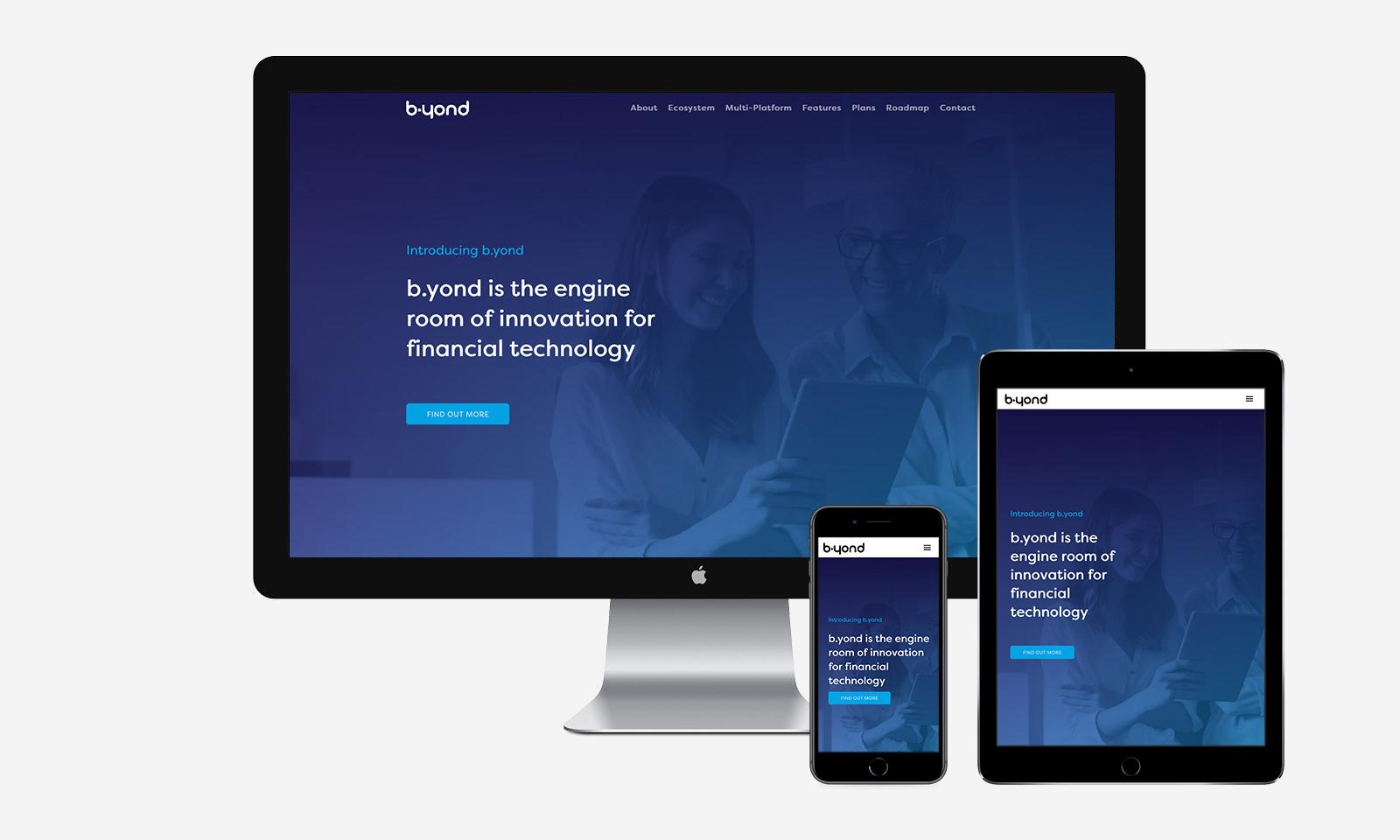 b.yond website responsive design launch