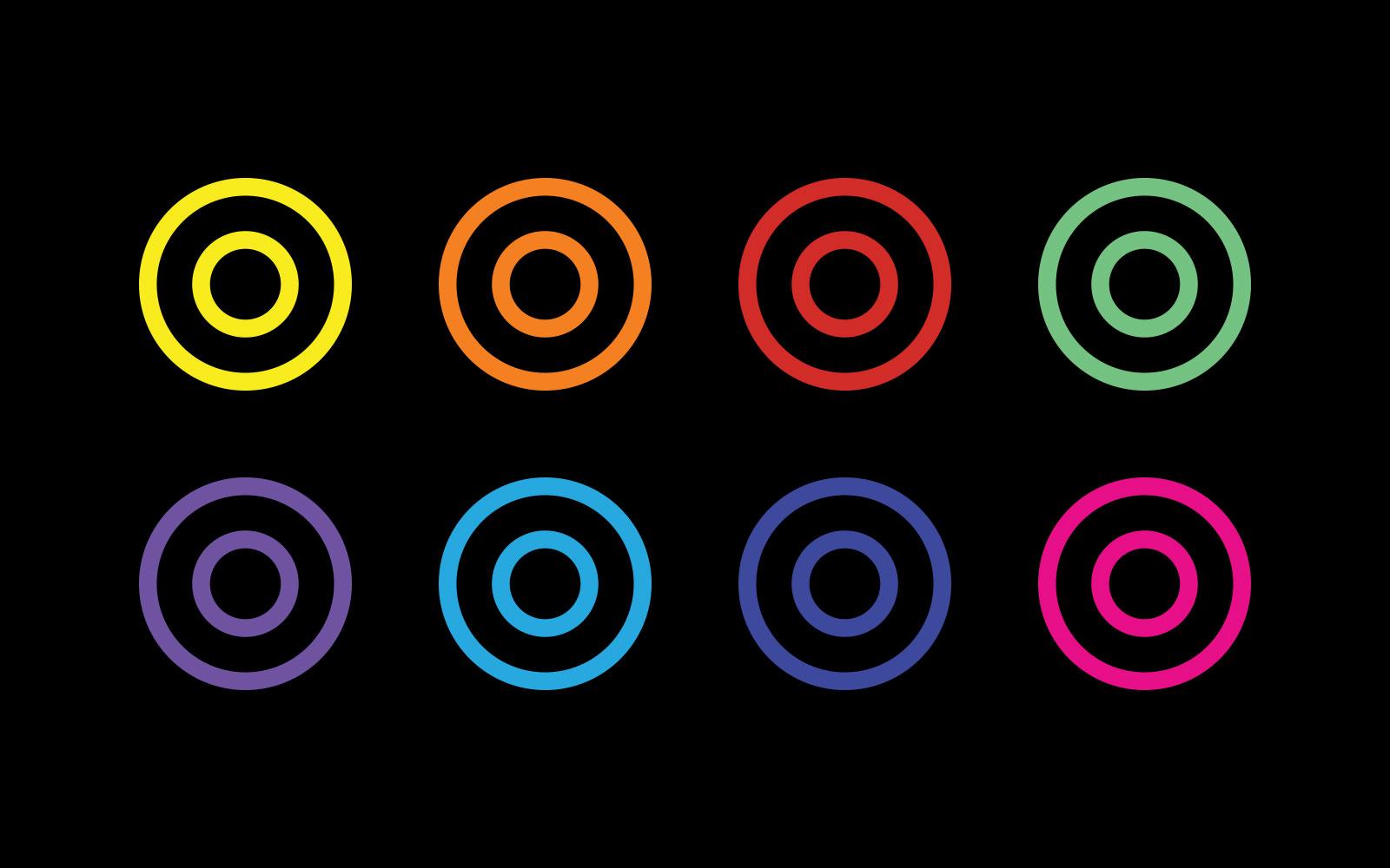 GPS multi colour roundels