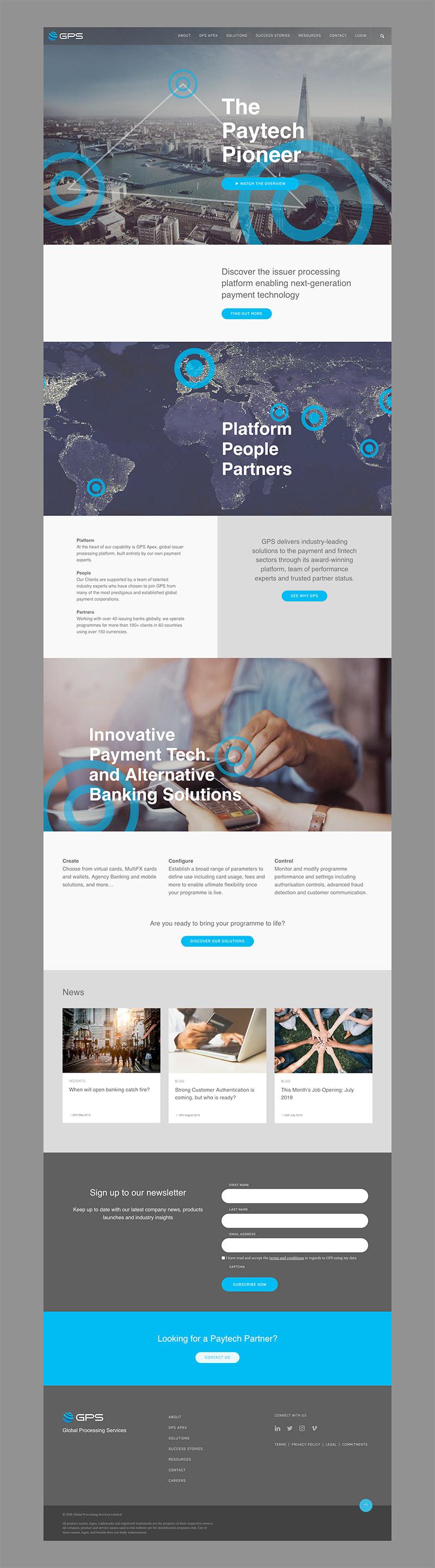 gps corporate website design