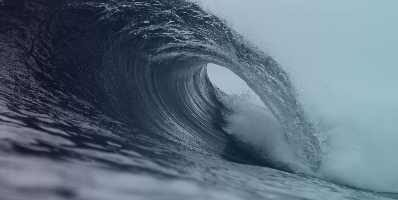 make waves barrel blue